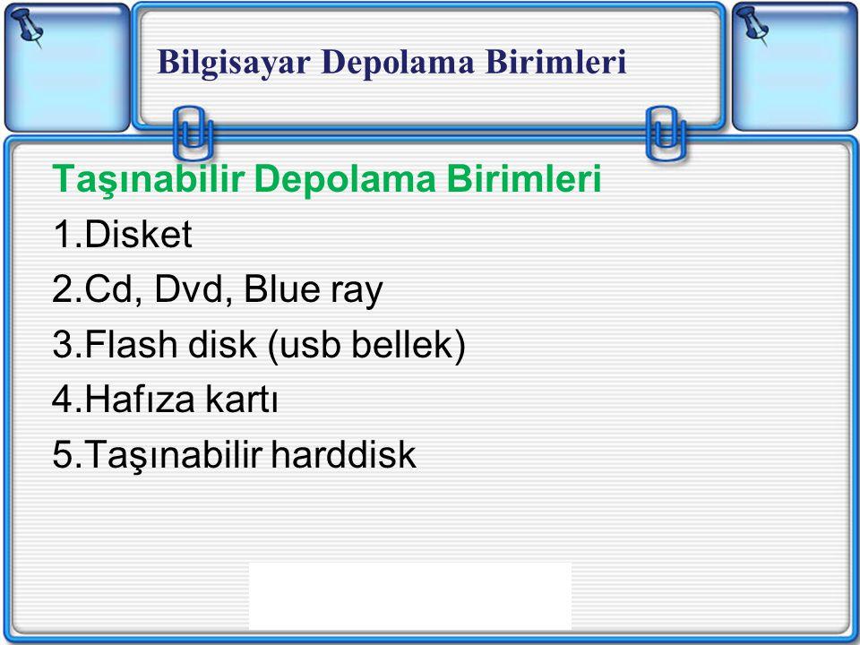 Taşınabilir Depolama Birimleri Disket Cd, Dvd, Blue ray