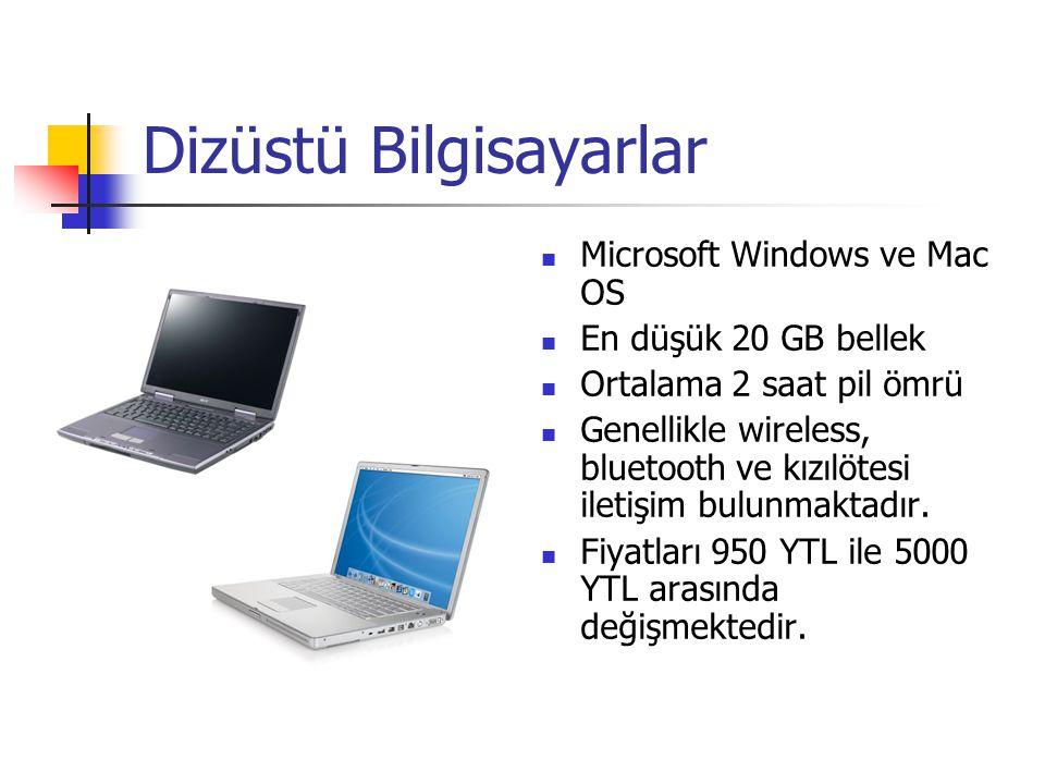 Dizüstü Bilgisayarlar