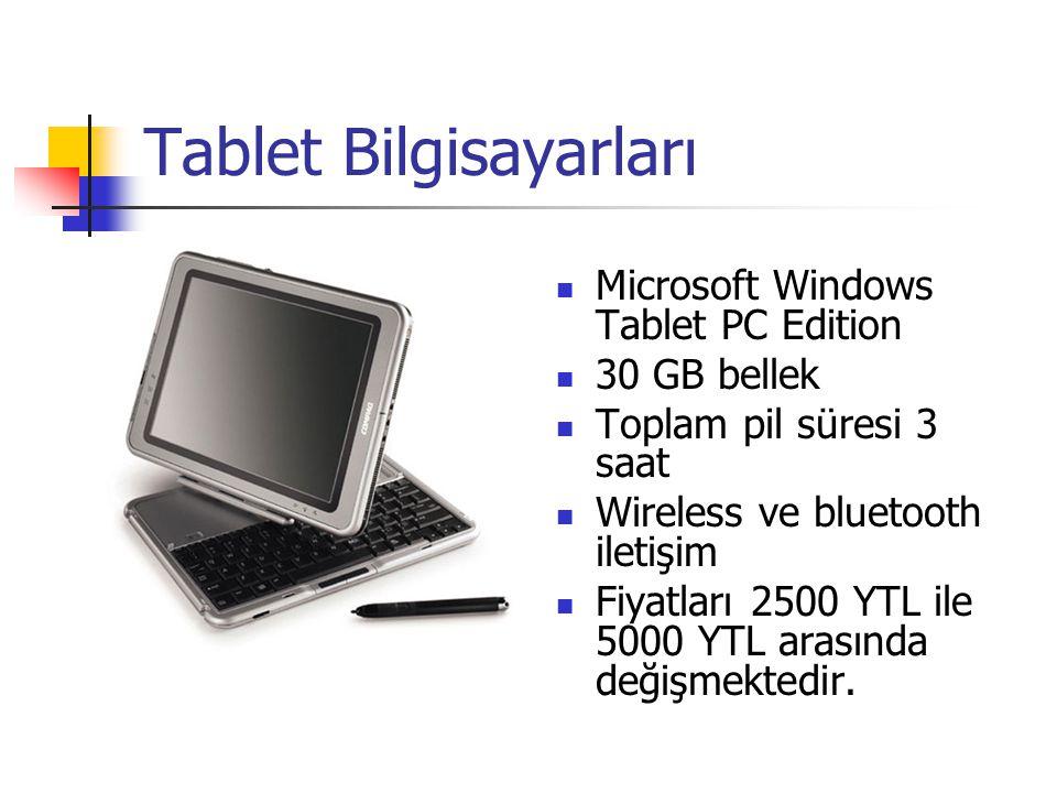 Tablet Bilgisayarları