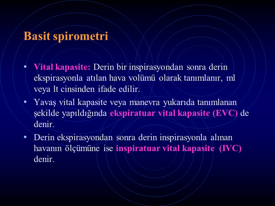 Basit spirometri