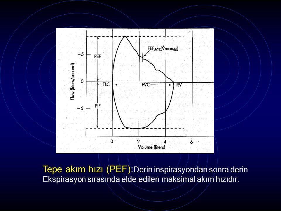 Tepe akım hızı (PEF):Derin inspirasyondan sonra derin