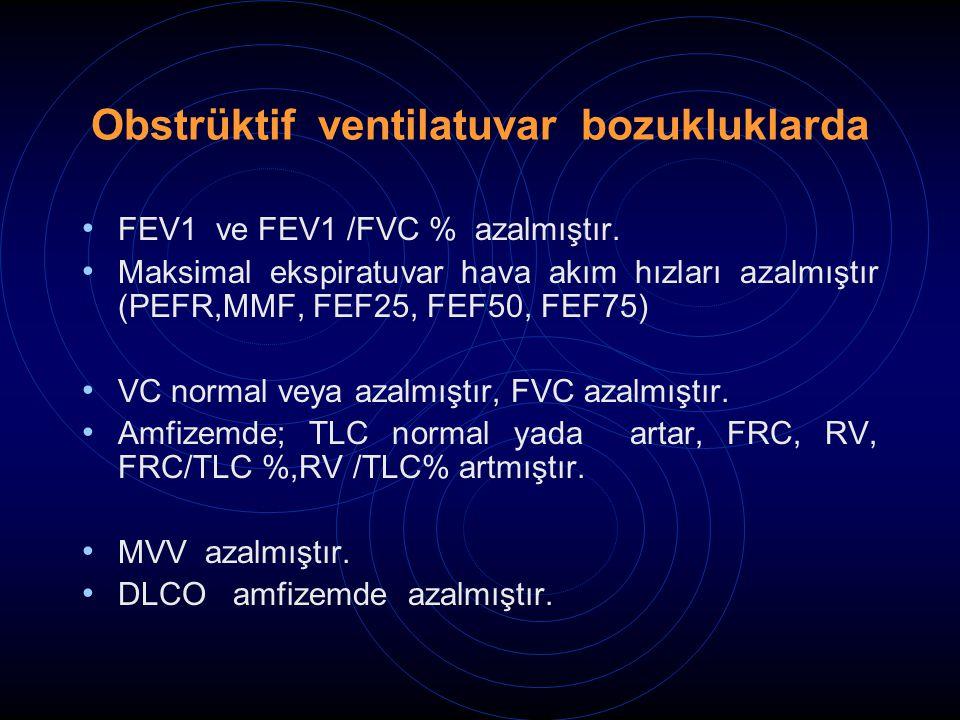 Obstrüktif ventilatuvar bozukluklarda