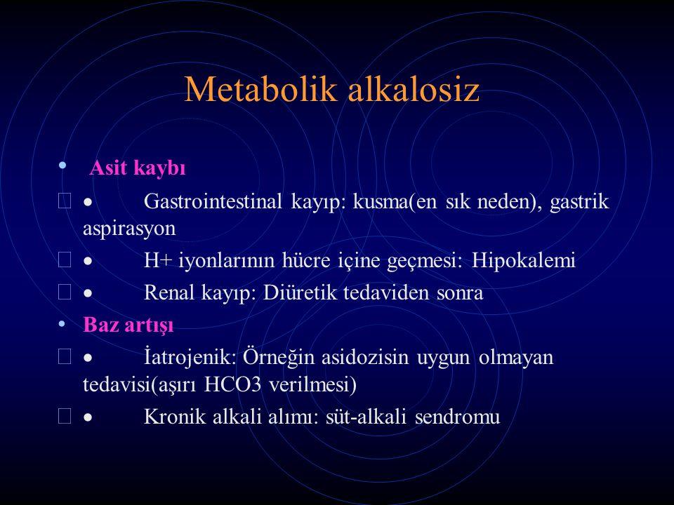 Metabolik alkalosiz Asit kaybı
