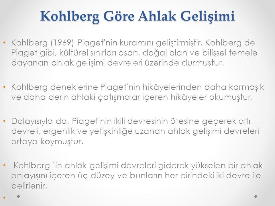 Kohlberg Göre Ahlak Gelişimi