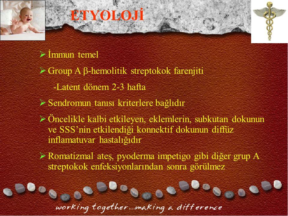 ETYOLOJİ İmmun temel Group A -hemolitik streptokok farenjiti