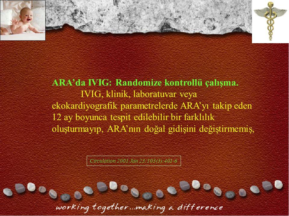 ARA'da IVIG: Randomize kontrollü çalışma