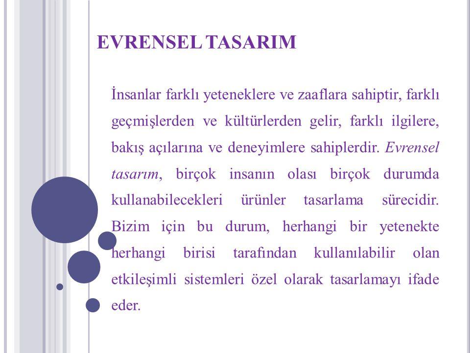 EVRENSEL TASARIM