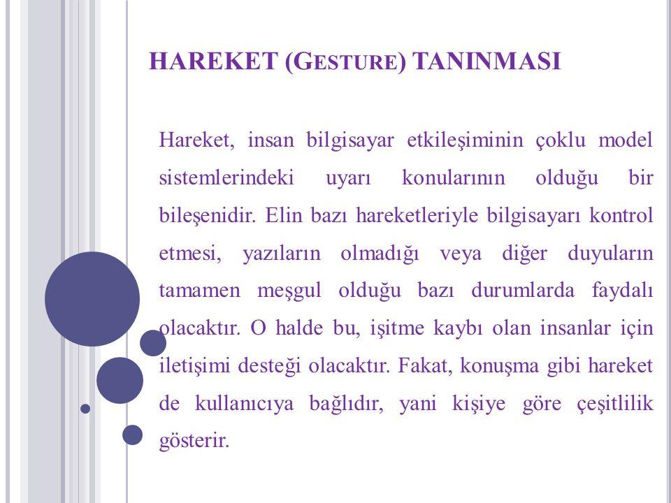 HAREKET (Gesture) TANINMASI