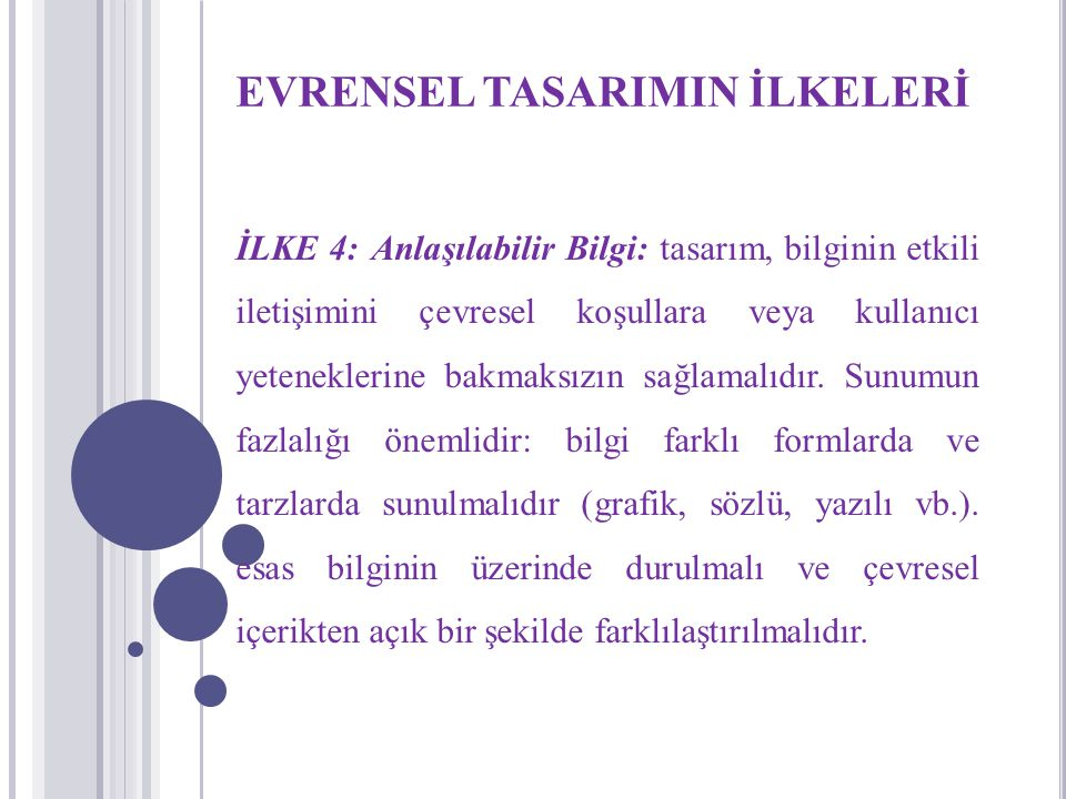 EVRENSEL TASARIMIN İLKELERİ