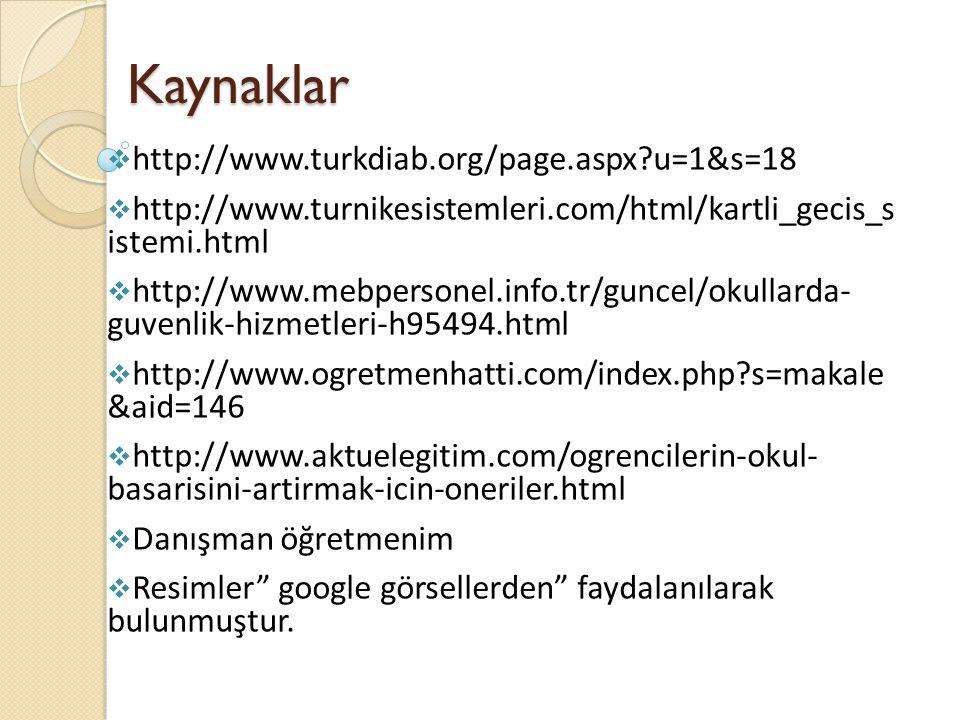 Kaynaklar http://www.turkdiab.org/page.aspx u=1&s=18