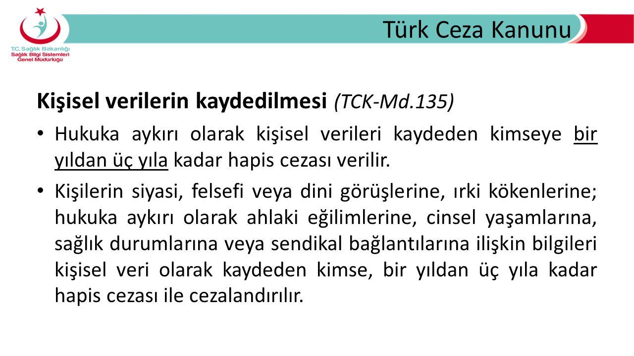 Türk Ceza Kanunu Kişisel verilerin kaydedilmesi (TCK-Md.135)