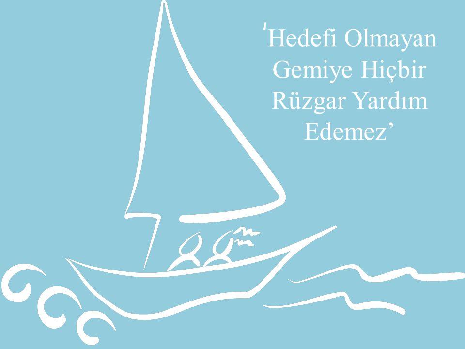 'Hedefi Olmayan Gemiye Hiçbir Rüzgar Yardım Edemez'