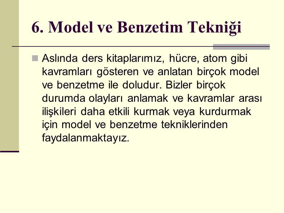 6. Model ve Benzetim Tekniği