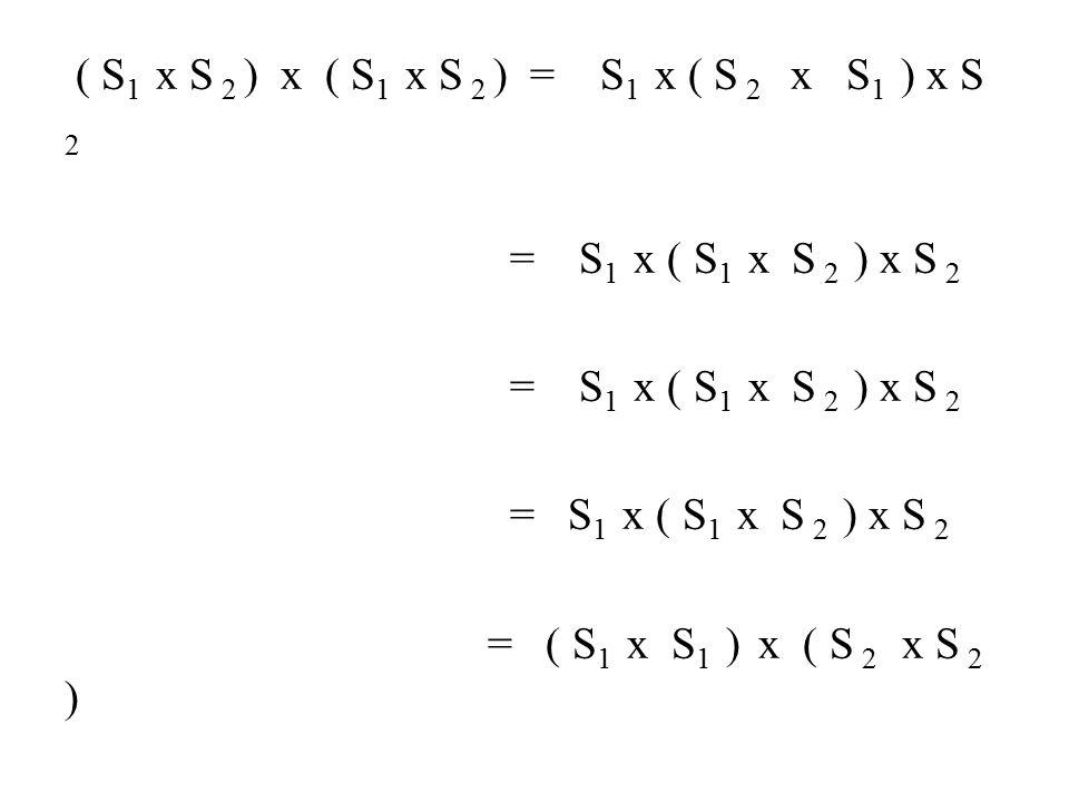 ( S1 x S 2 ) x ( S1 x S 2 ) = S1 x ( S 2 x S1 ) x S 2