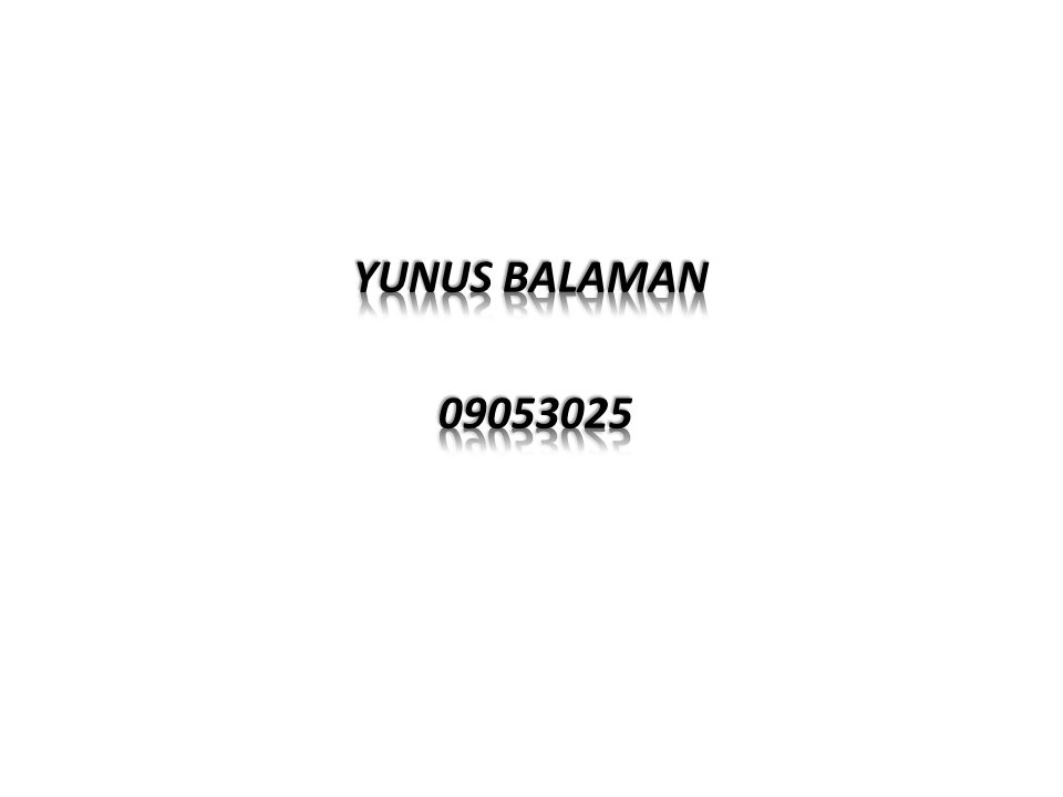 YUNUS BALAMAN 09053025