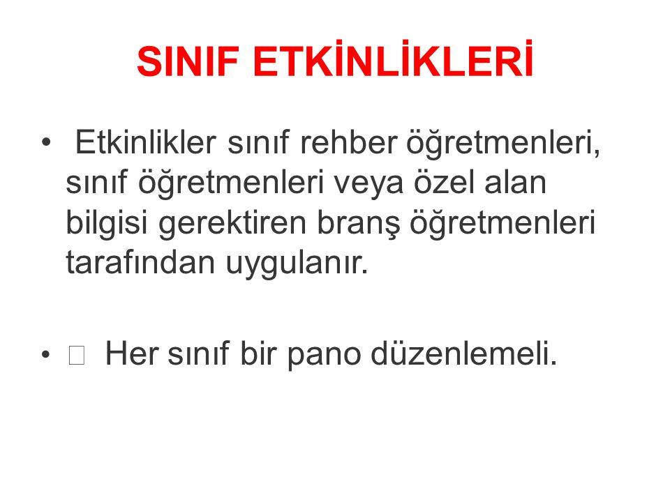 SINIF ETKİNLİKLERİ