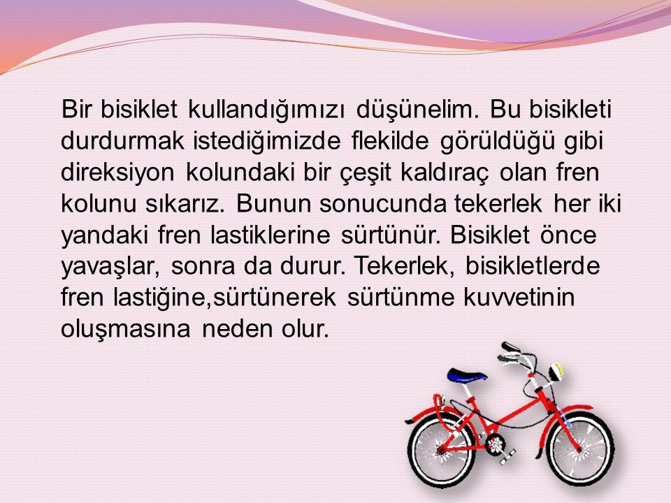 Bir bisiklet kullandığımızı düşünelim