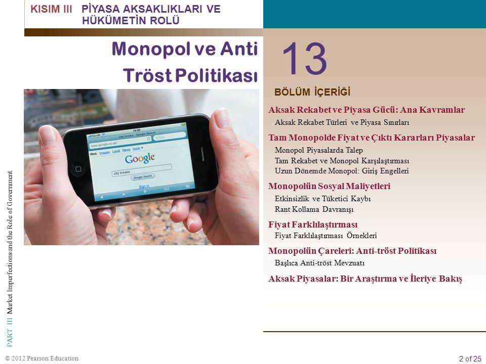 13 Monopol ve Anti Tröst Politikası