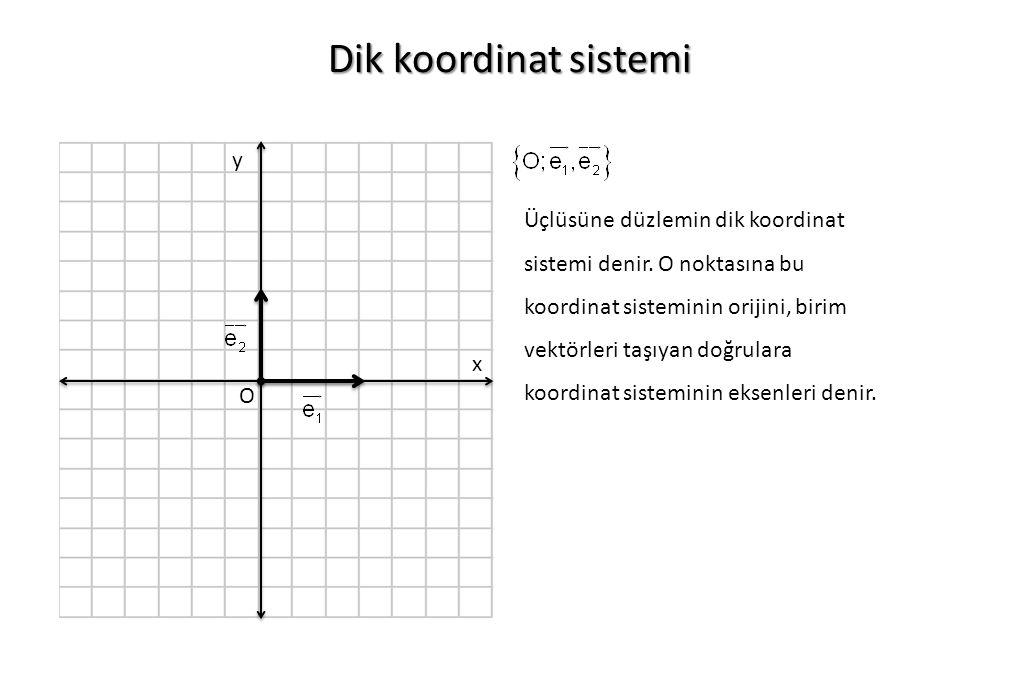 Dik koordinat sistemi y