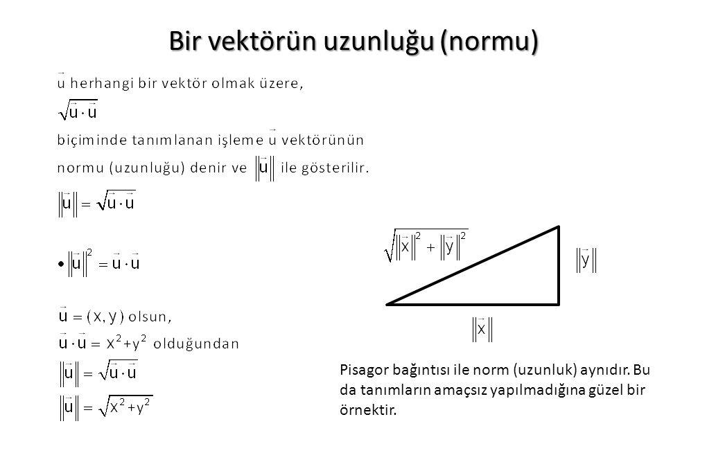 Bir vektörün uzunluğu (normu)