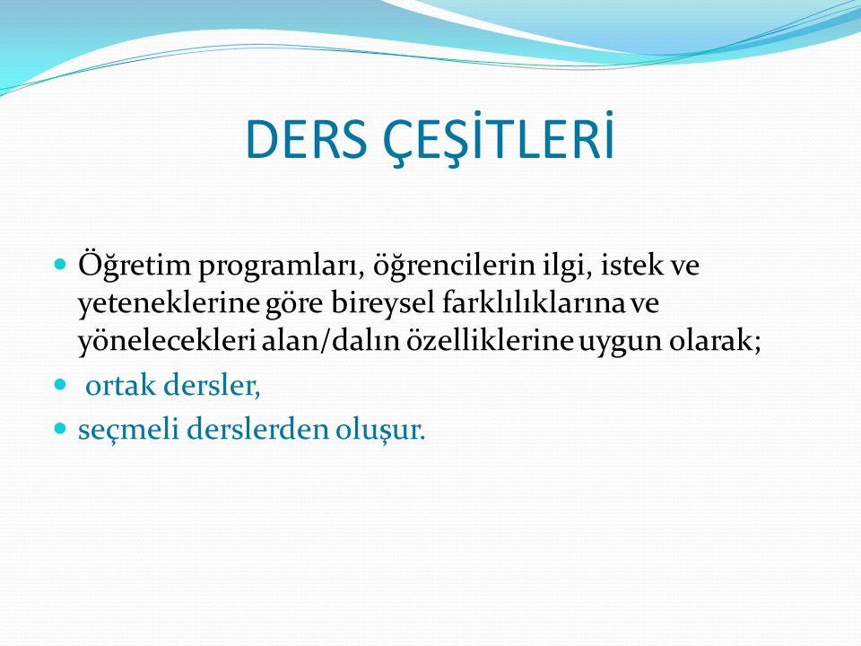 DERS ÇEŞİTLERİ