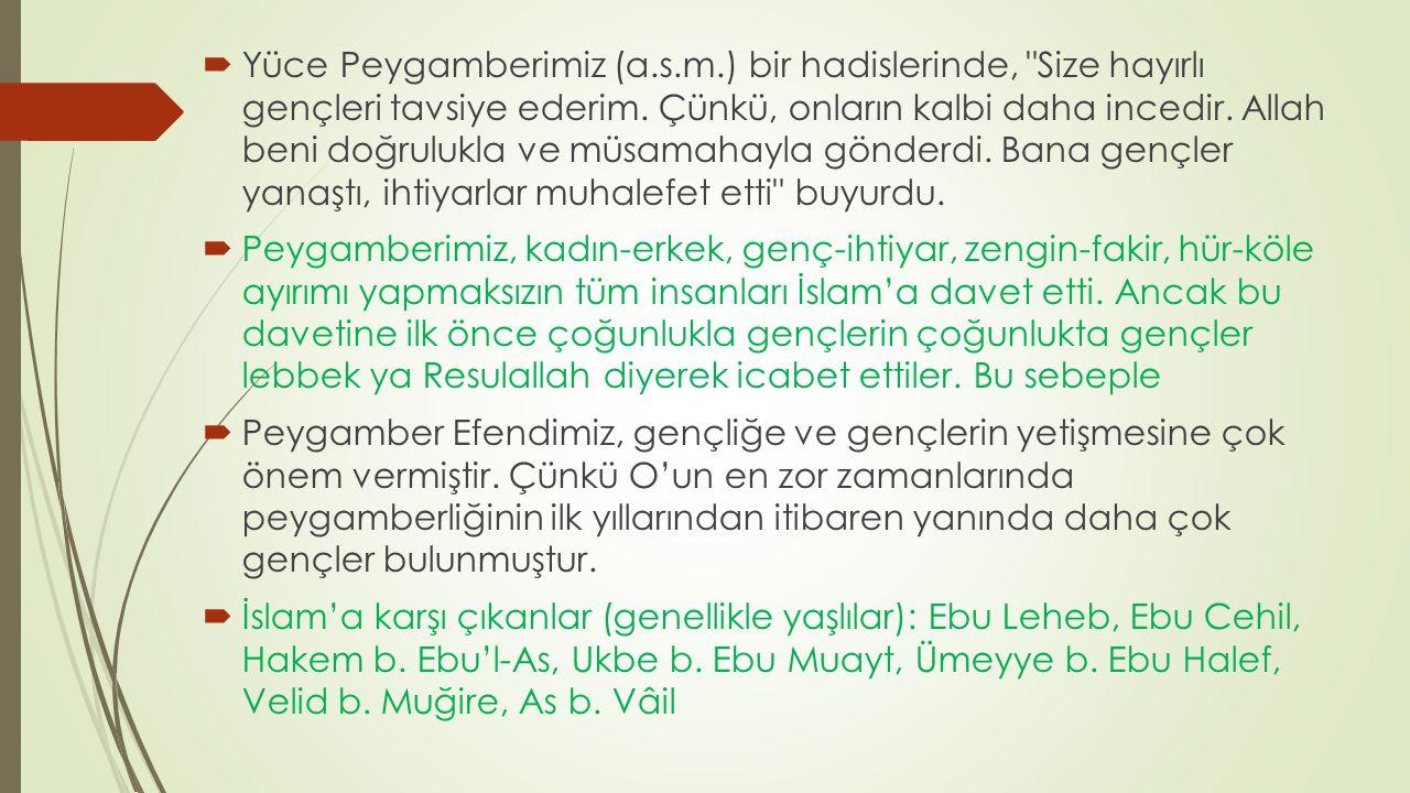 Yüce Peygamberimiz (a. s. m