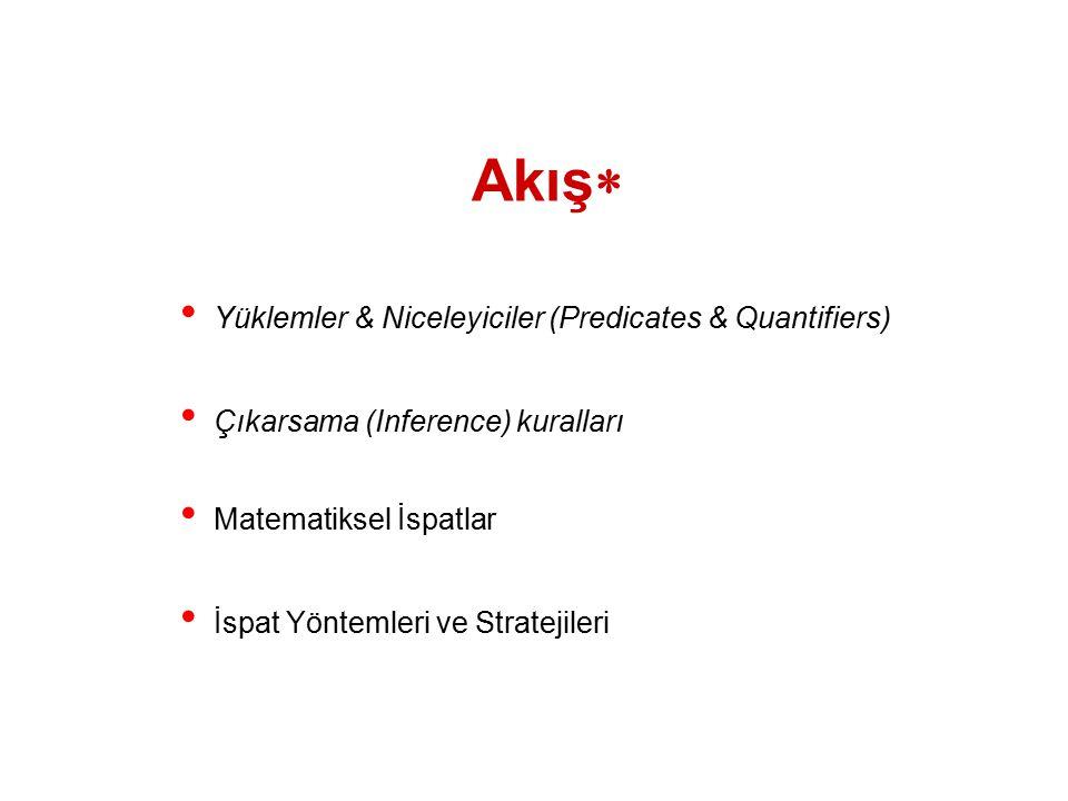 Akış Yüklemler & Niceleyiciler (Predicates & Quantifiers)