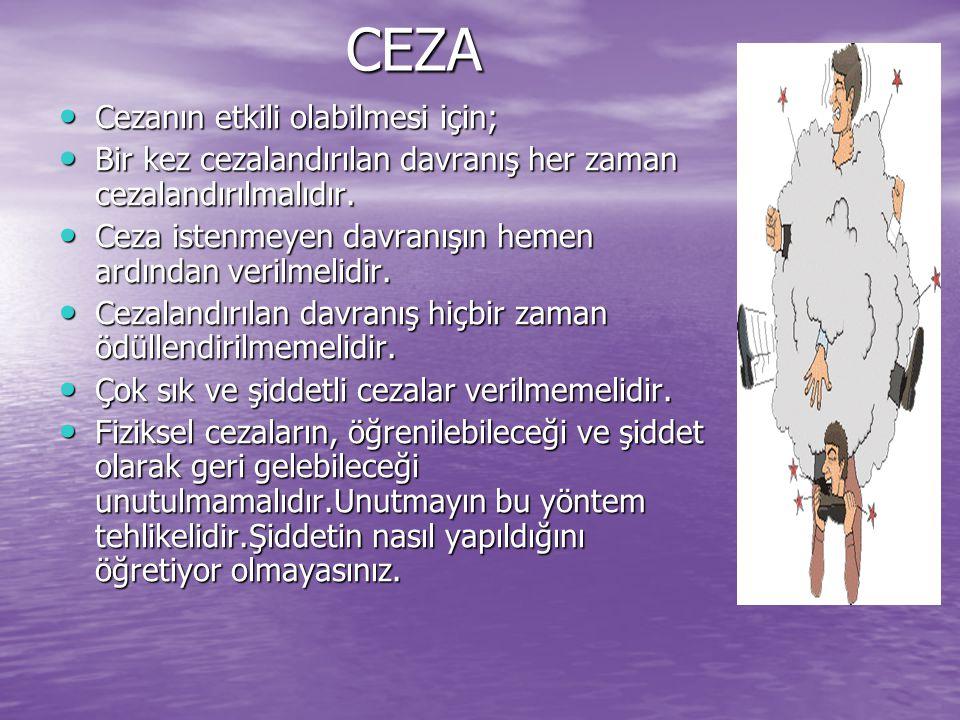 CEZA Cezanın etkili olabilmesi için;