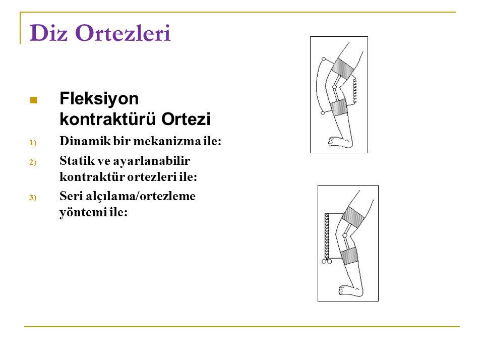 Diz Ortezleri Fleksiyon kontraktürü Ortezi Dinamik bir mekanizma ile: