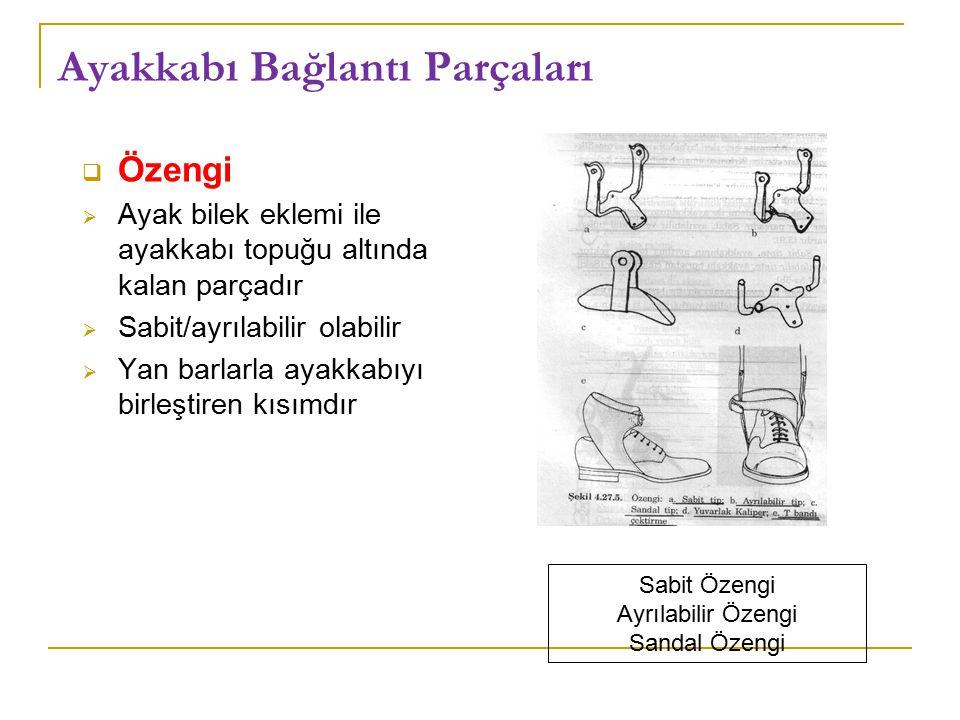 Ayakkabı Bağlantı Parçaları