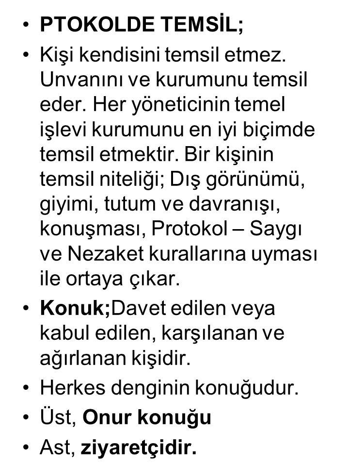 PTOKOLDE TEMSİL;