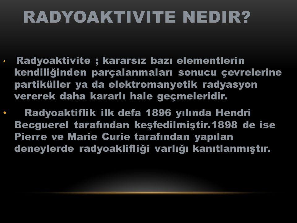Radyoaktivite nedir