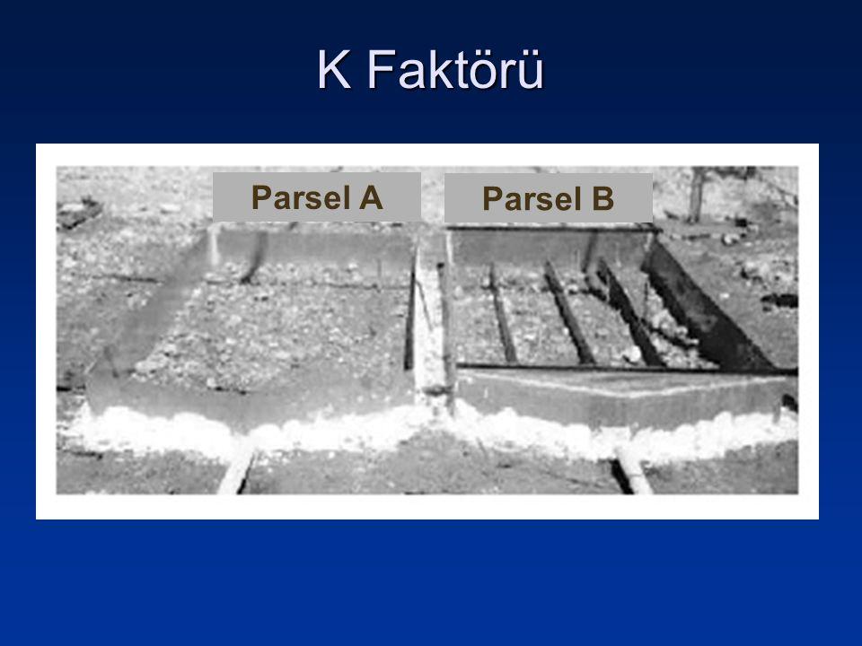 K Faktörü Parsel A Parsel B