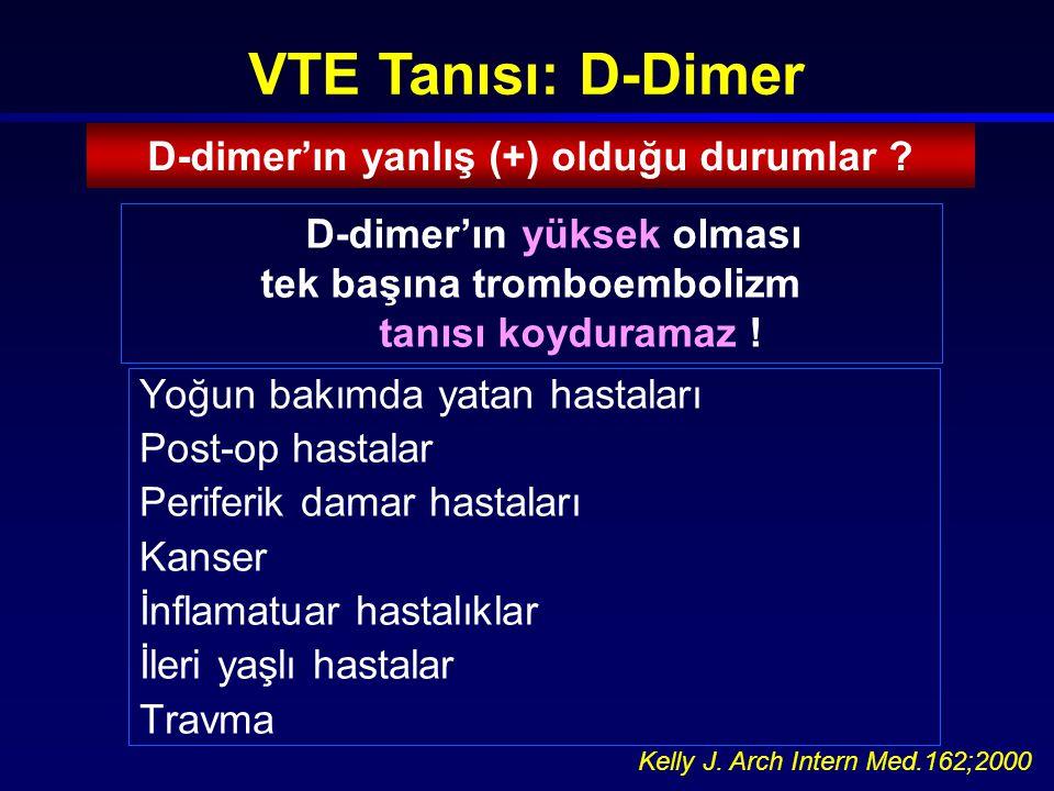 D-dimer'ın yanlış (+) olduğu durumlar