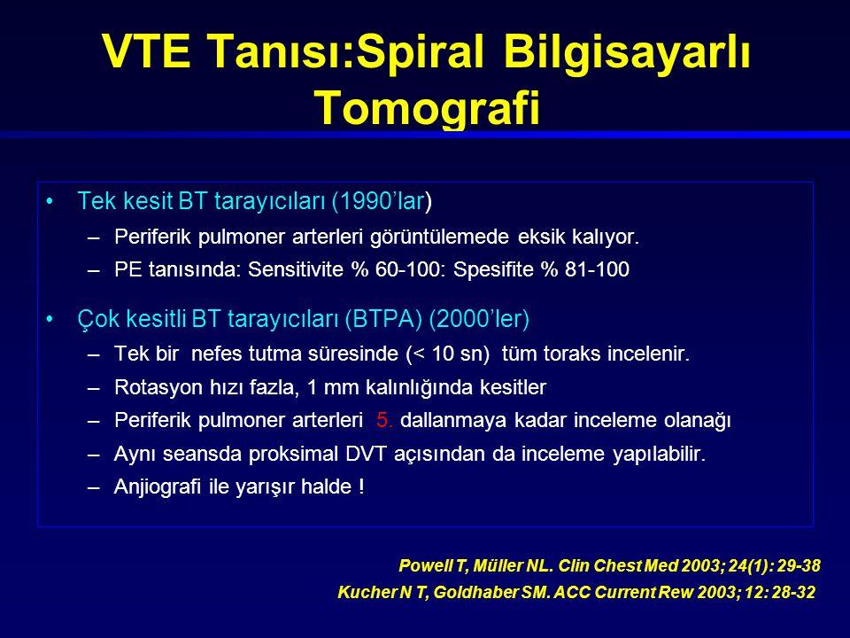 VTE Tanısı:Spiral Bilgisayarlı Tomografi