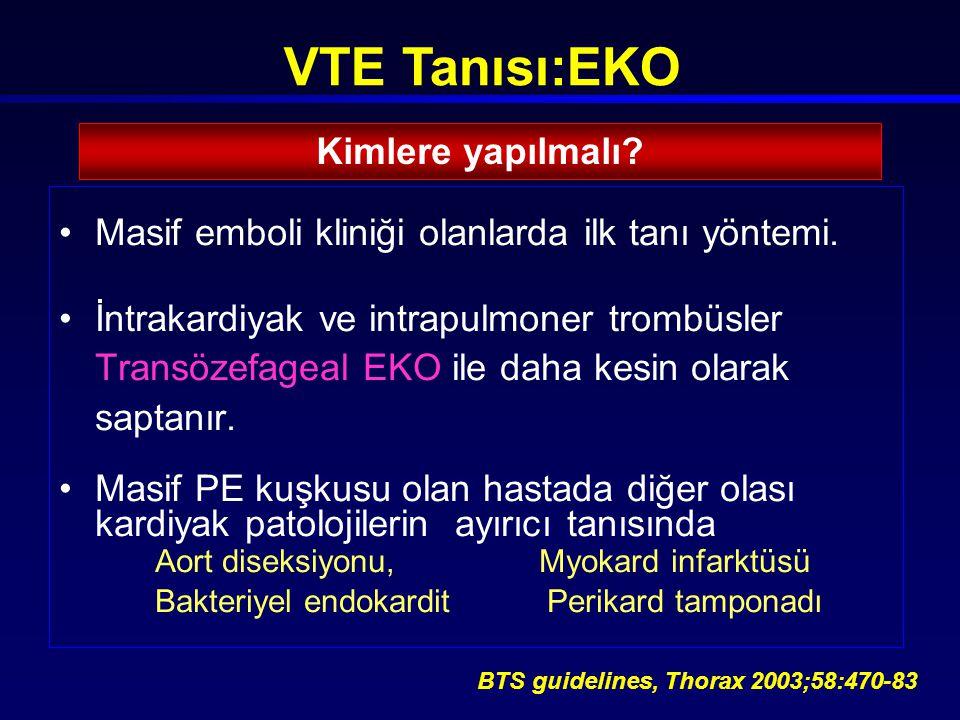 VTE Tanısı:EKO Kimlere yapılmalı