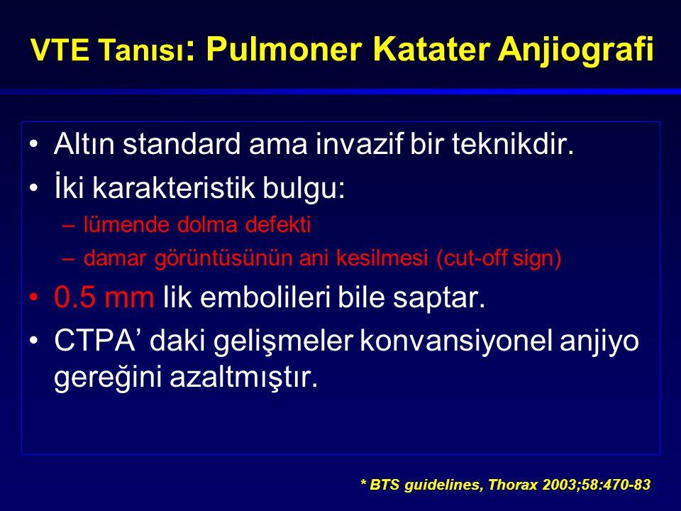 VTE Tanısı: Pulmoner Katater Anjiografi
