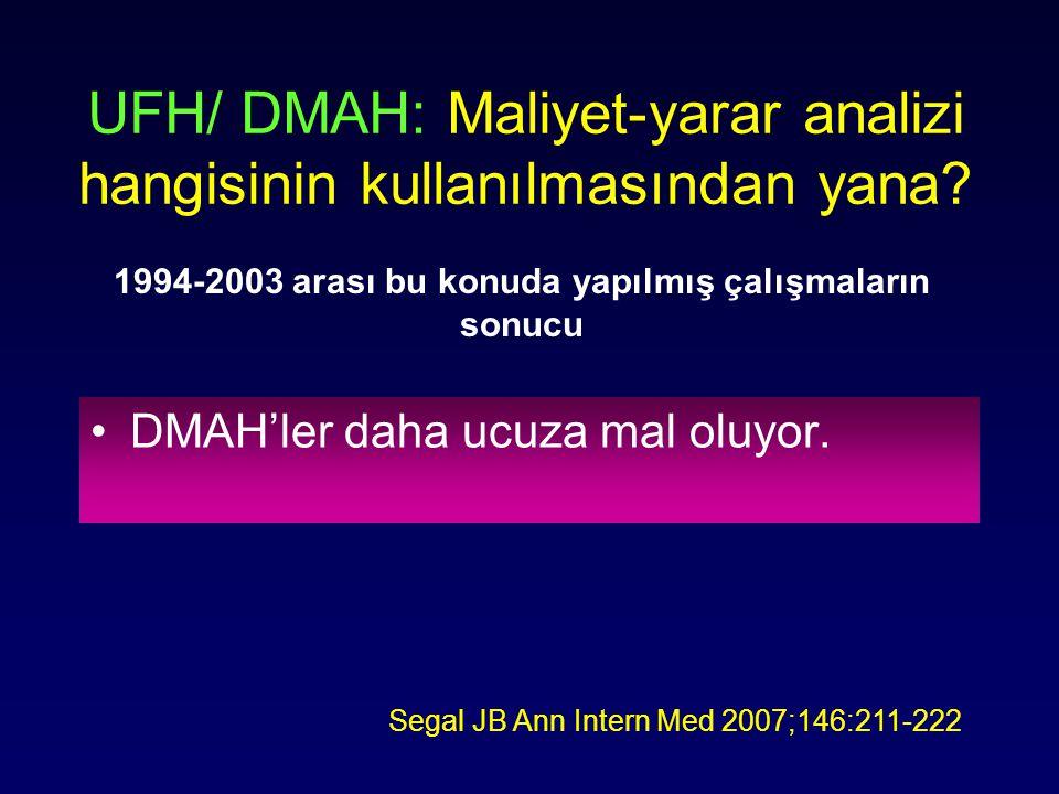 UFH/ DMAH: Maliyet-yarar analizi hangisinin kullanılmasından yana