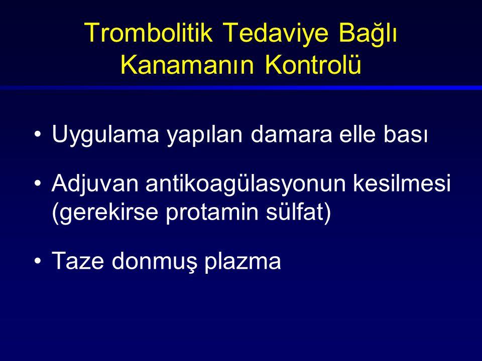 Trombolitik Tedaviye Bağlı Kanamanın Kontrolü