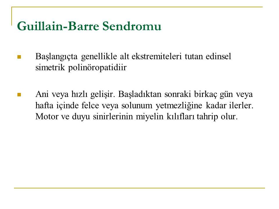 Guillain-Barre Sendromu