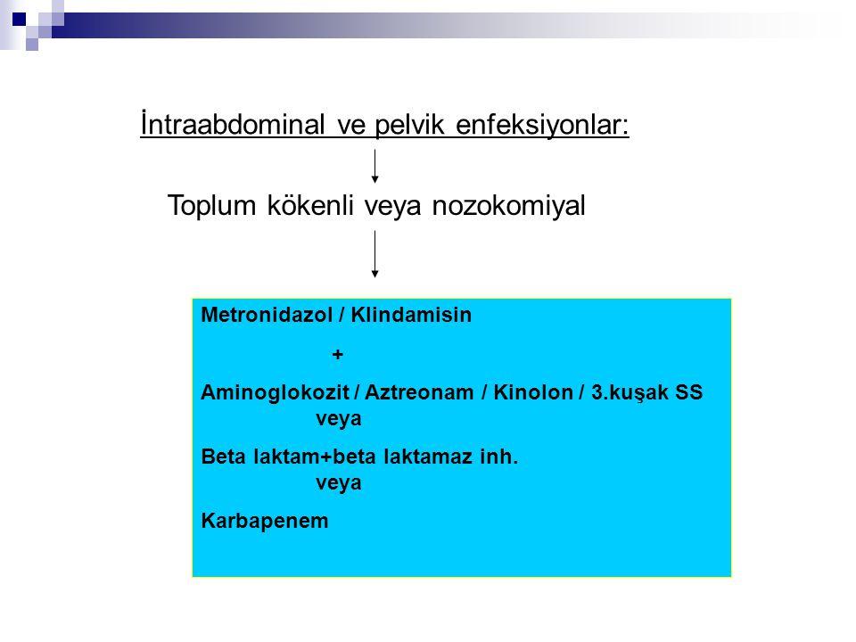 İntraabdominal ve pelvik enfeksiyonlar: