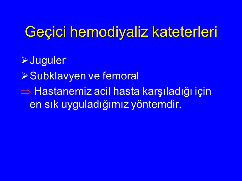 Geçici hemodiyaliz kateterleri