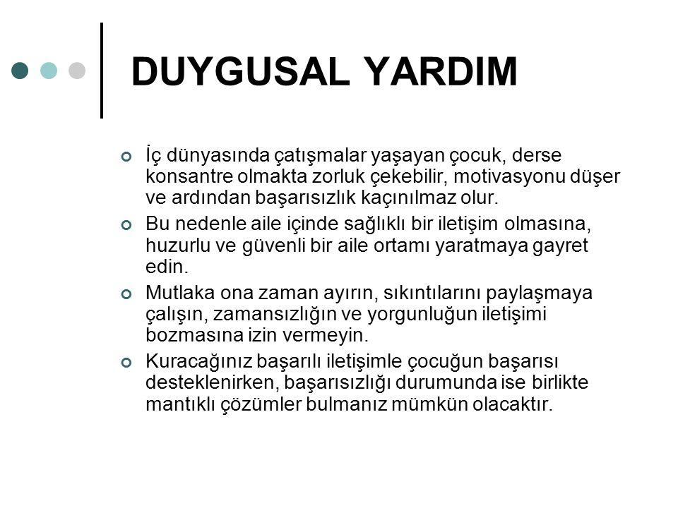 DUYGUSAL YARDIM