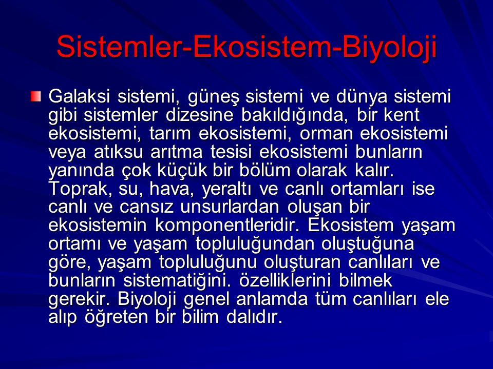 Sistemler-Ekosistem-Biyoloji