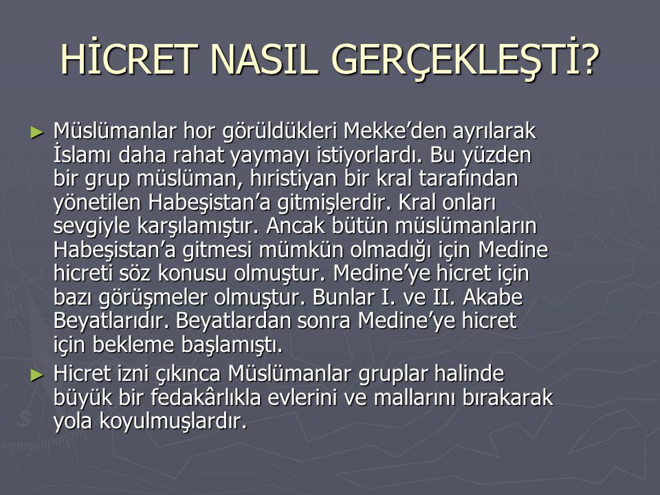 HİCRET NASIL GERÇEKLEŞTİ