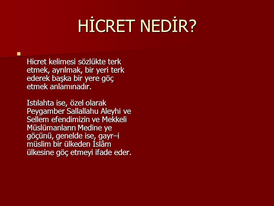 HİCRET NEDİR