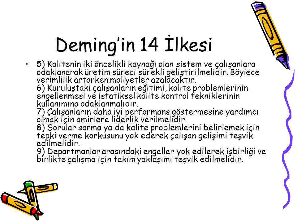 Deming'in 14 İlkesi