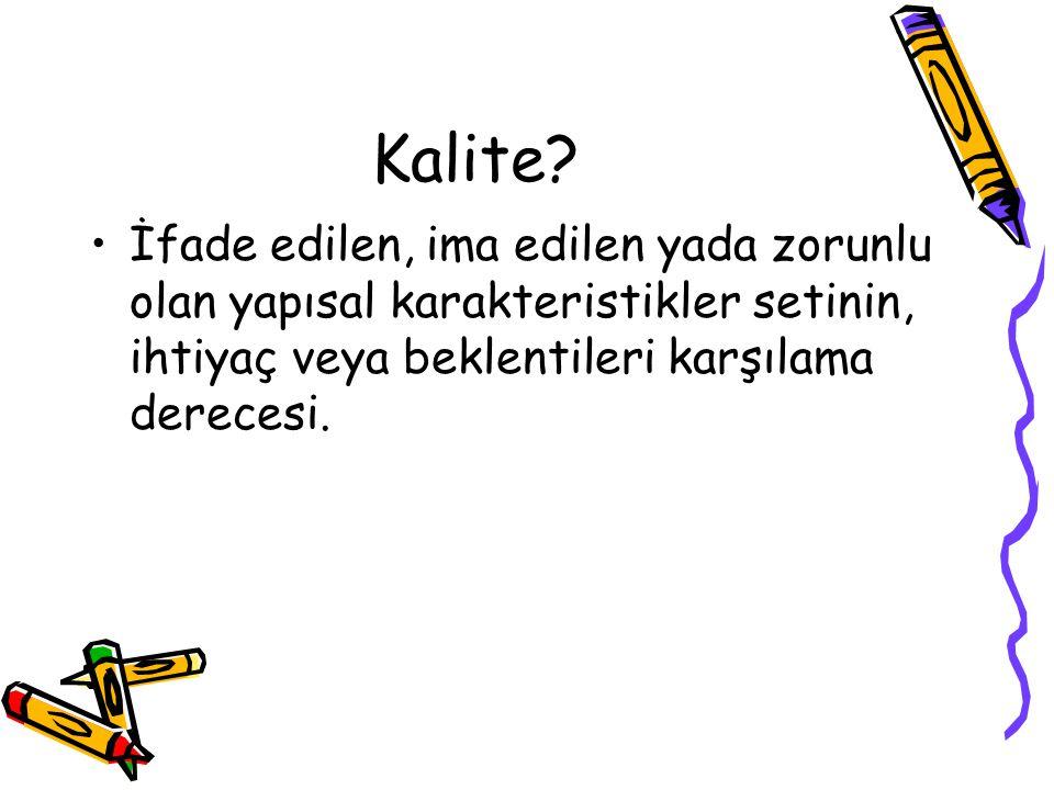 Kalite.