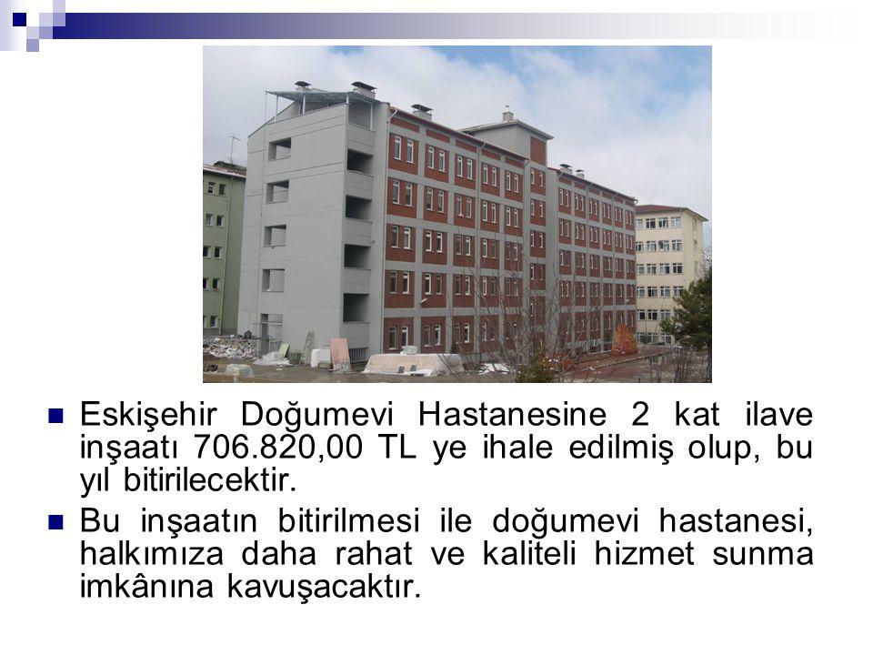 Eskişehir Doğumevi Hastanesine 2 kat ilave inşaatı 706