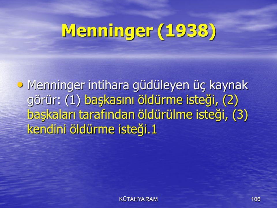 Menninger (1938)